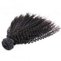 Malaysian virgin human hair wefts Afro Kinky Curly 1 pc a lot unprocessed natural color 95g/pc [MVAKC01]