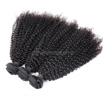 Peruvian virgin unprocessed natural color human hair wefts Afro Kinky Curly 3 pieces a lot  95g/pc [PVAKC03]