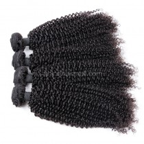 Peruvian virgin unprocessed human hair wefts Natural Color Afro Kinky Curly 4 pieces a lot 95g/pc [PVAKC04]