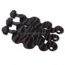Brazilian virgin unprocessed human hair wefts Body Wave 3 pieces a lot  Hair Bundles 95g/pc [BVBW03]