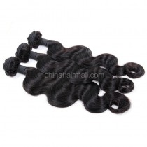 Peruvian virgin unprocessed natural color human hair wefts Body Wave 3 pieces a lot Hair Bundles 95g/pc [PVBW03]