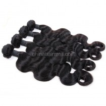 Peruvian virgin unprocessed natural color human hair wefts Body Wave 4 pieces a lot 95g/pc [PVBW04]