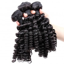Malaysian virgin unprocessed natural color human hair wefts Bouncy Curly 3 pieces a lot 95g/pc [MVBC03]