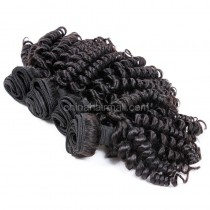 Brazilian virgin unprocessed human hair wefts Bouncy Curly 4 pieces a lot  95g/pc  [BVBC04]