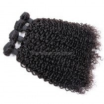 Malaysian virgin unprocessed natural color human hair wefts Brazilian Curly 4 pieces a lot  95g/pc  [MVBRC04]