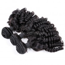 Brazilian virgin unprocessed human hair wefts Funmi Curly 3 pieces a lot Hair Bundles 95g/pc  [BVFC03]