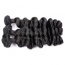 Peruvian virgin unprocessed natural color human hair wefts Romance Curly 3 pieces a lot Hair Bundles 95g/pc [PVRC03]
