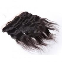 Malaysian Virgin Human Hair 13*4 Popular Lace Frontal Natural Straight Natural Hair Line and Baby Hair [MVNSLF]