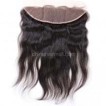 Peruvian Virgin Human Hair 13*4 Popular Lace Frontal Natural Straight Natural Hair Line and Baby Hair [PVNSLF]