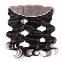 Peruvian Virgin Human Hair 13*4 Popular Lace Frontal Body Wave Natural Hair Line and Baby Hair [PVBWLF]
