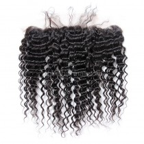 Malaysian Virgin Human Hair 13*4 Popular Lace Frontal Deep Wave Natural Hair Line and Baby Hair [MVDWLF]