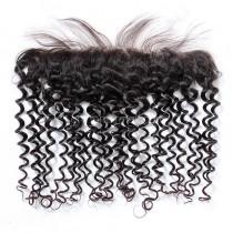 Malaysian Virgin Human Hair 13*4 Popular Lace Frontal Candy Curly Natural Hair Line and Baby Hair [MVCCLF]