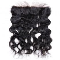 Malaysian Virgin Human Hair 13*4 Popular Lace Frontal Natural Wave Natural Hair Line and Baby Hair [MVNaWLF]