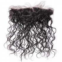 Malaysian Virgin Human Hair 13*4 Popular Lace Frontal 25mm Curly Natural Hair Line and Baby Hair [MV25CLF]