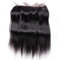 Malaysian Virgin Human Hair 13*4 Popular Lace Frontal Yaki Straight Natural Hair Line and Baby Hair [MVYKLF]