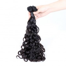 Top Grade 10A Double Drawn Brazilian Virgin Human Hair Weft Wave Peruvian Curl 1 pc a Lot Unprocessed 100g/pc [DDBVPC01]