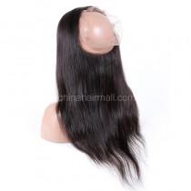 "Peruvian Virgin Hair 360 Lace Frontal Closure 22.5""*4"" Elastic Band"