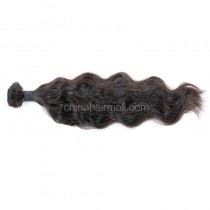 Malaysian virgin human hair wave natural wave 1 pc a lot unprocessed natural color 95g/pc [MVNW01]