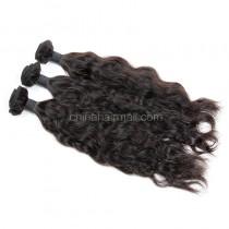 Malaysian virgin unprocessed natural color human hair wefts Natural Wave 3 pieces a lot Hair Bundles 95g/pc [MVNW03]
