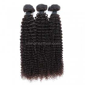 Brazilian virgin unprocessed human hair wefts Kinky Curly 3 pieces a lot Hair Bundles 95g/pc [BVKC03]