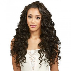 180% density Indian Remy Hair Pre-Plucked Natural Hairline 360 Lace Wigs Loose Wave [360LW04]