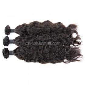 Brazilian virgin unprocessed human hair wefts Natural Wave 3 pieces a lot Hair Bundles 95g/pc [BVNW03]