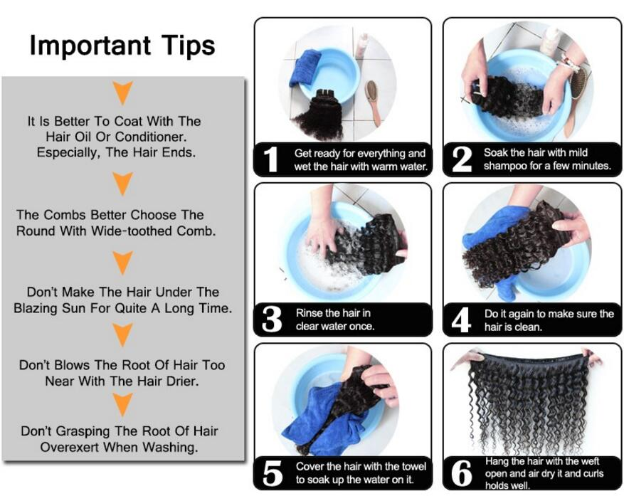 How to wash  your human hair weft