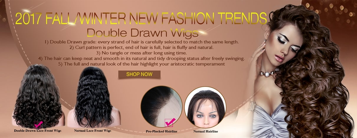 Double Drawn Lace Front Wigs