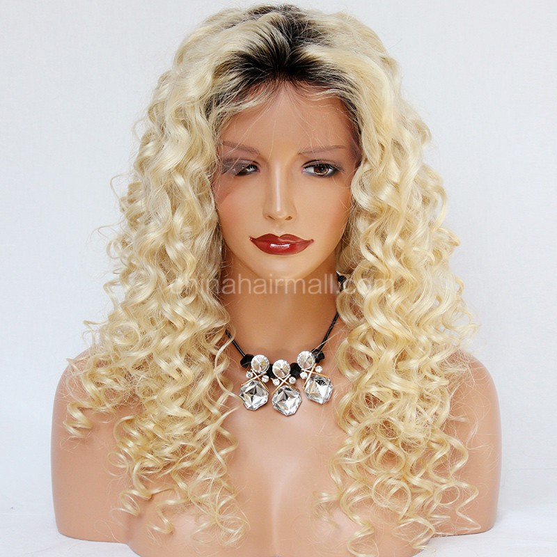 Wowebony Glueless Lace Front Wigs Peruvian Virgin Hair