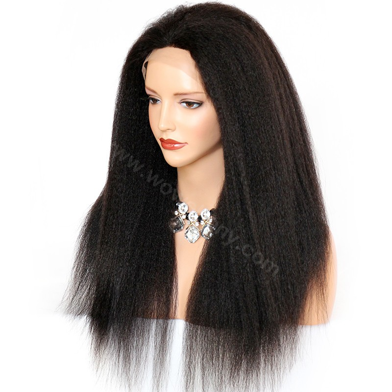 Considerate Kinky Curly Human Hair Lace Wig With Baby Hair Brazilian Remy Hair Lace Front Wigs Natural Hairline Middle Part Wowebony Lace Front Wigs Hair Extensions & Wigs