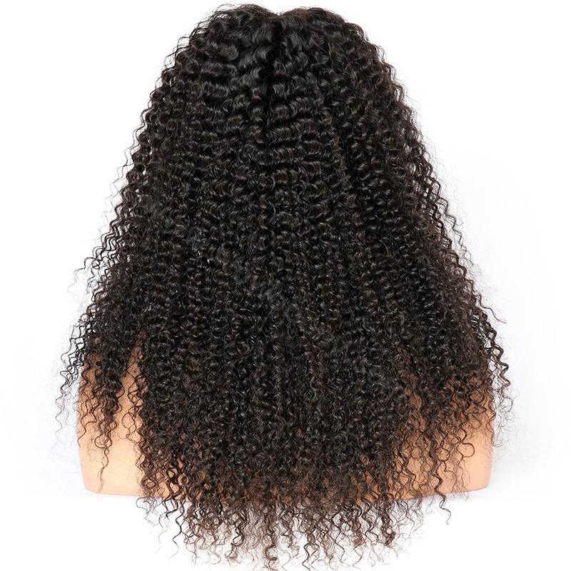 WowEbony Kinky Curly Glueless Lace Front Wigs Brazilian Virgin Human Hair  [LFW086]