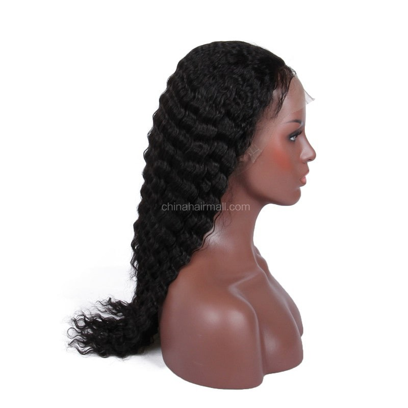 Lace Wigs Indian Remy Hair Deep Wave