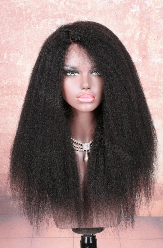 Stock Lace Part Lace Wigs Indian Remy Hair Kinky Straight [LPLW11]