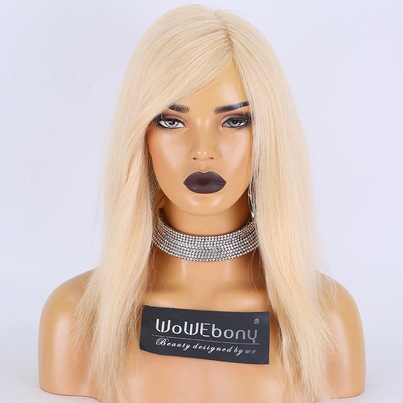 Clearance Sale:WoWEbony Braizilian Virgin Hair 14inches 130% Density Natural Straight #22 Color Small Size Glueless Full Lace Wigs [C29]
