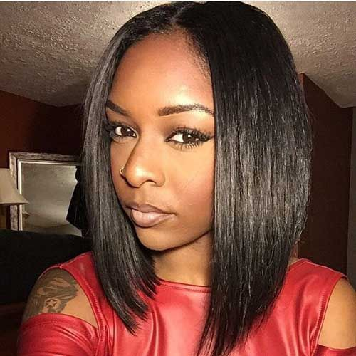 Glueless Lace Front Wigs Indian Remy Hair Bob Wig Yaki Straight 150% Density