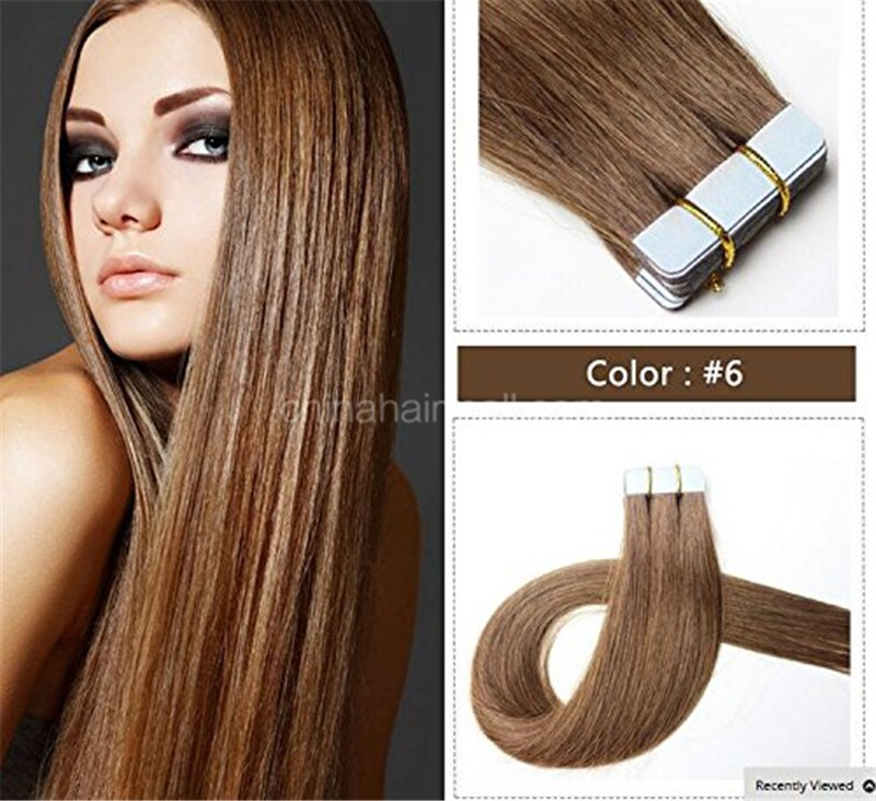 Seamless Tape In Hair Extensions In Virgin Remy Human Hair Light