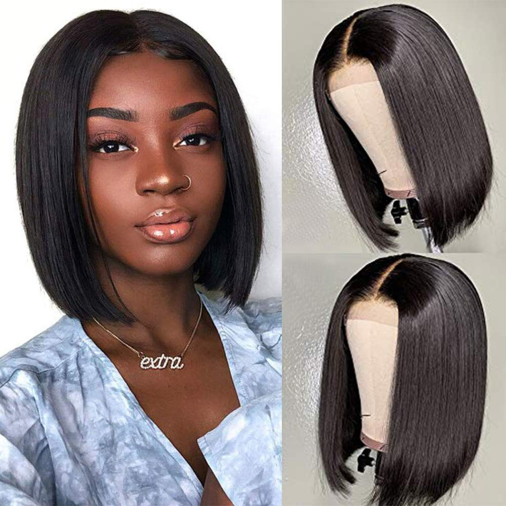 Same Day Shipping Stocked WowEbony Human Hair Natural Color 4X4 Glueless Lace Wigs [Shirly2]