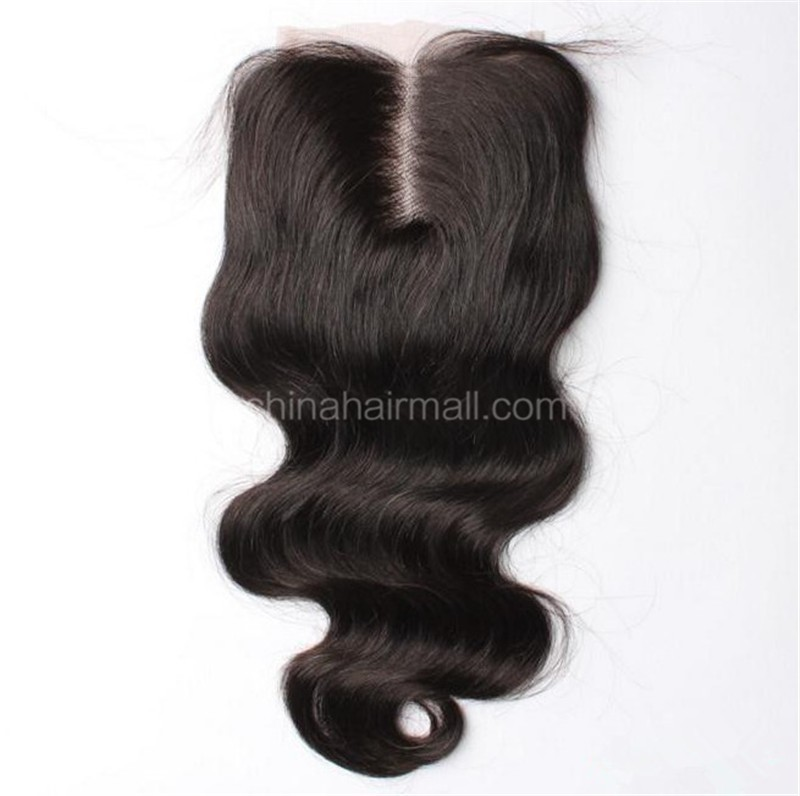 Brazilian Virgin Human Hair 4*4 Popular Lace Closure Body Wave Natural Hair Line and Baby Hair [BVBWTC]
