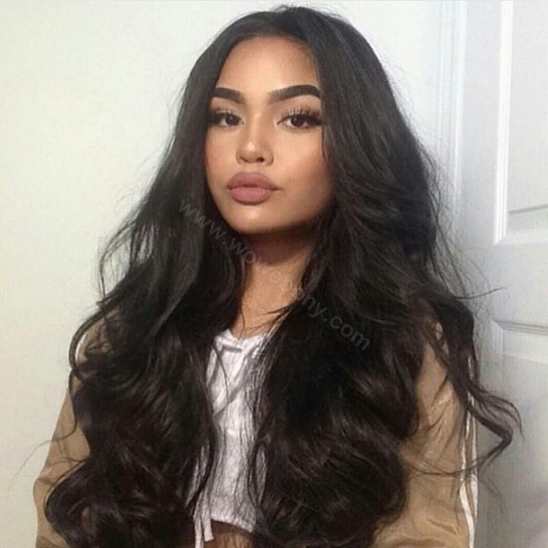 Lace Front Wigs Malaysian Virgin Human Hair Big Body Wave