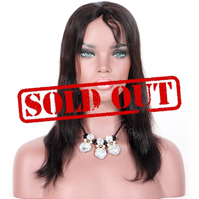 Clearance Sale 12 Inches Machine Made None Lace Wig Indian Remy Hair