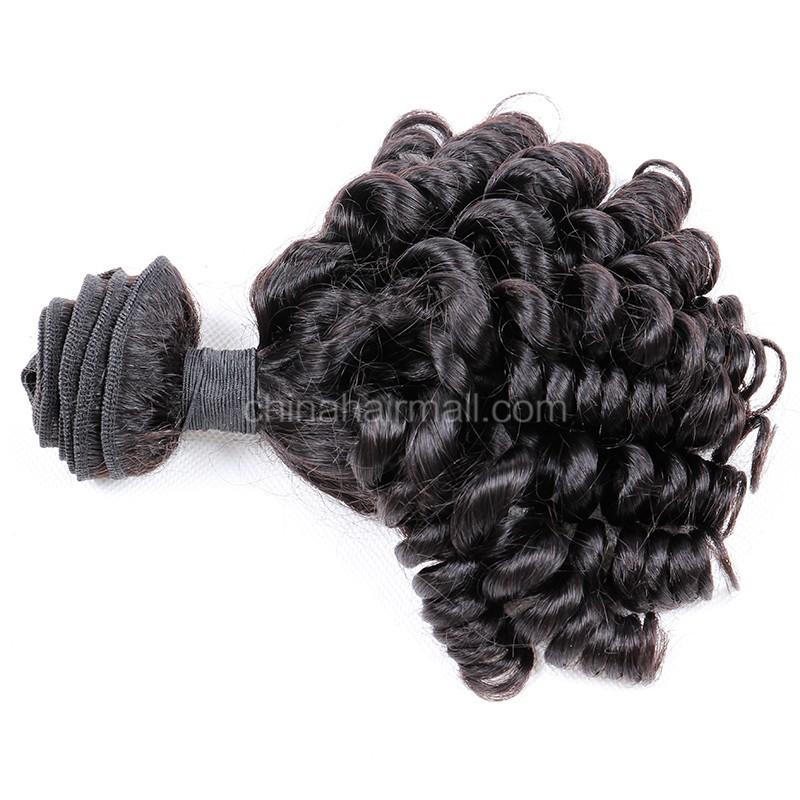 Malaysian virgin unprocessed natural color human hair wefts Spiral Curly Hair Waeve 1 pc a lot 95g/pc [MVSC01]