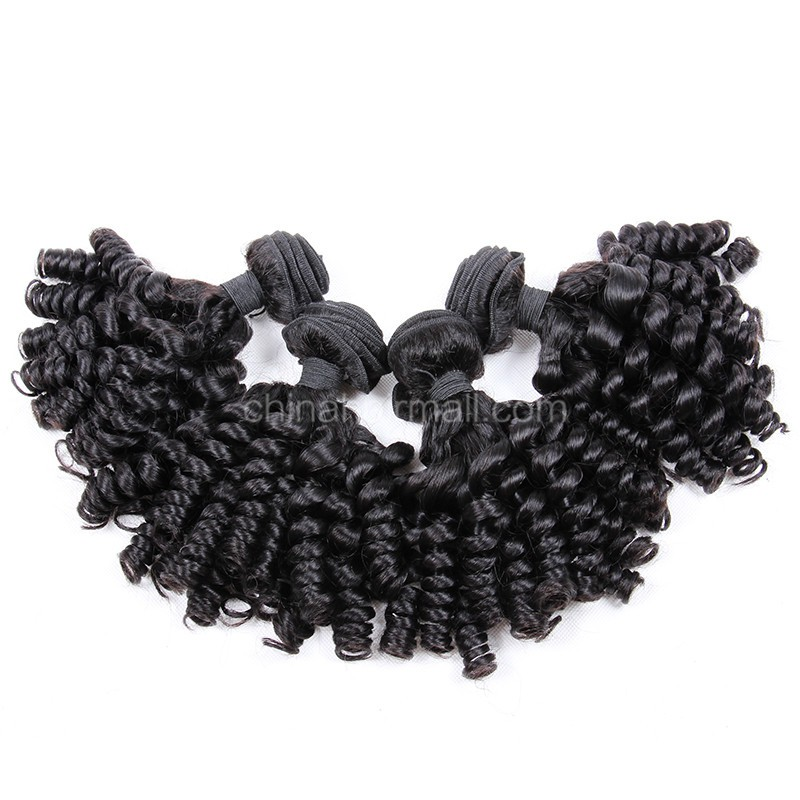 Brazilian virgin unprocessed human hair wefts Spiral Curly 4 pieces a lot  95g/pc  [BVSC04]