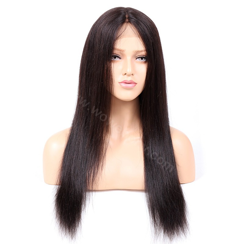 Indian Remy Hair Light Yaki Glueless Silk Part Lace Wig