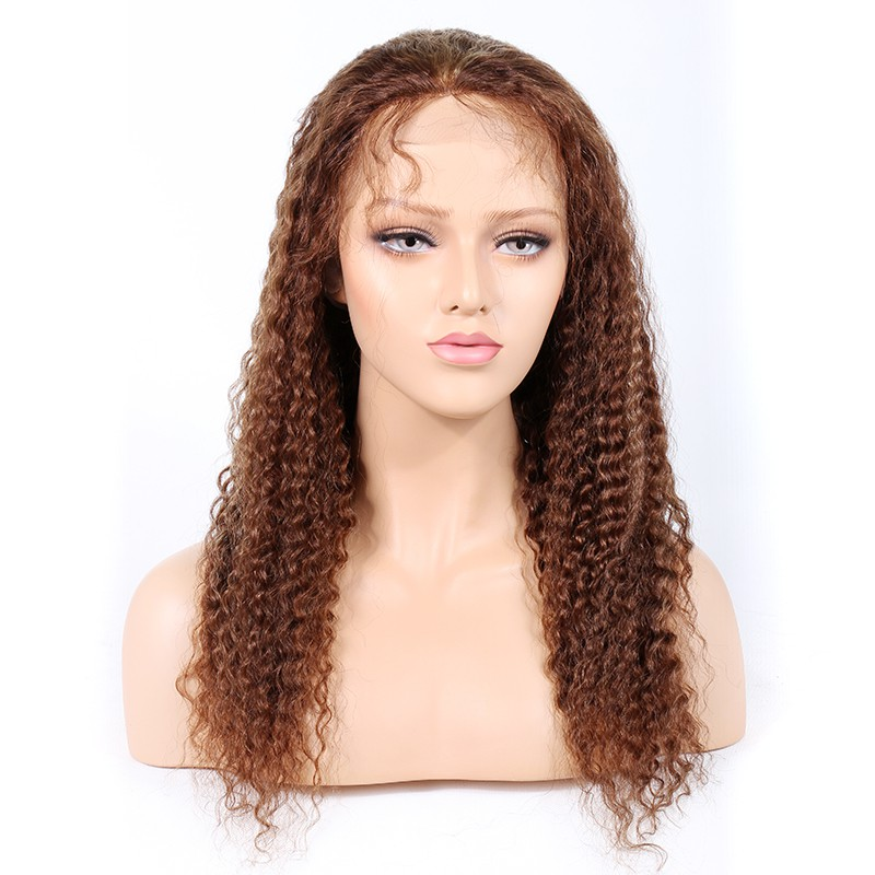 WowEbony #4/27 Highlight Color Full Lace Wigs Indian Virgin Hair Deep Wave [HLFW06]