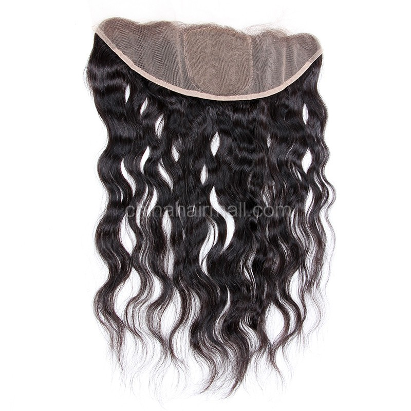Malaysian Virgin Human Hair Popular 13*4 Lace Frontal with 4*4 Silk Base Natural Wave Natural Hair Line and Baby Hair [MVNWSLF]