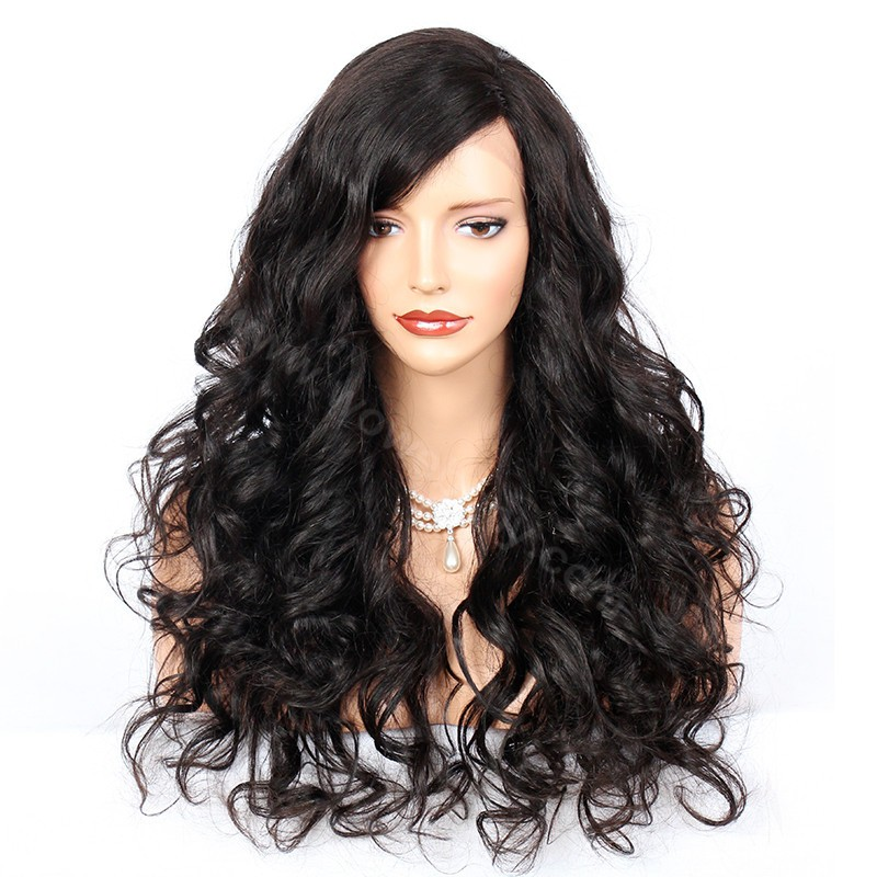 4.5inch Deep Part Lace Front Wigs Indian Remy Hair Sexy Body Wave