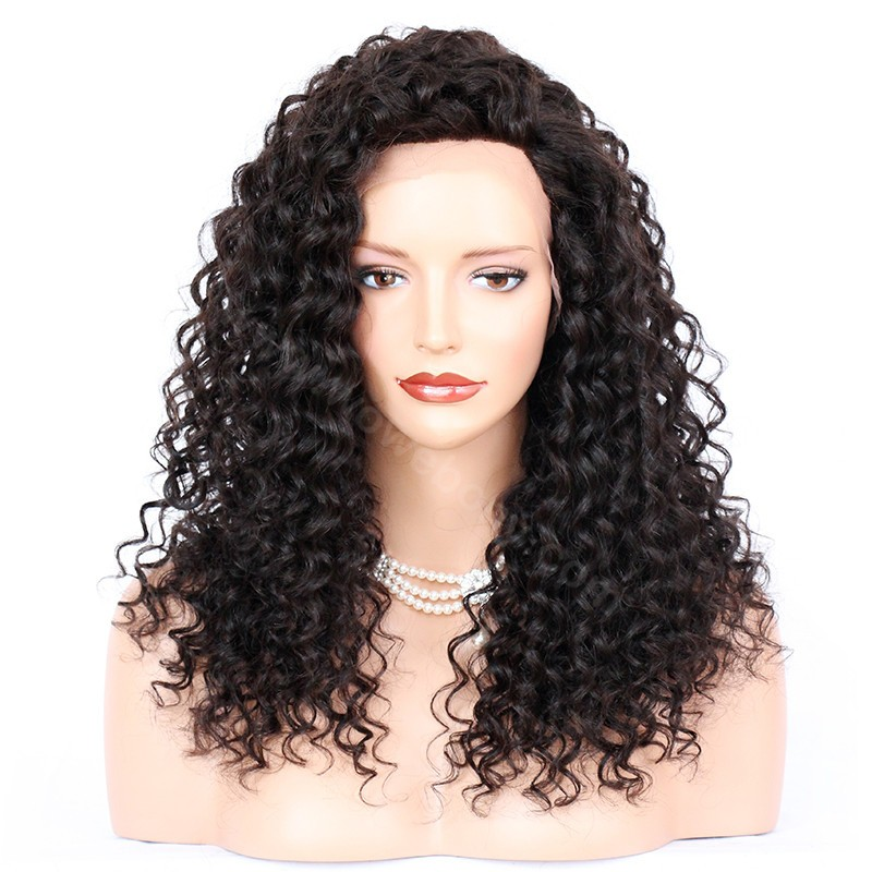 4.5inch Deep Part Lace Front Wigs Indian Remy Hair Sexy Messy Wave