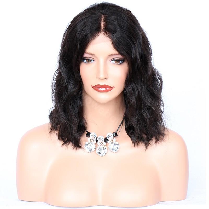 Lace Front Wigs Malaysian Virgin Human Hair Bob Wave