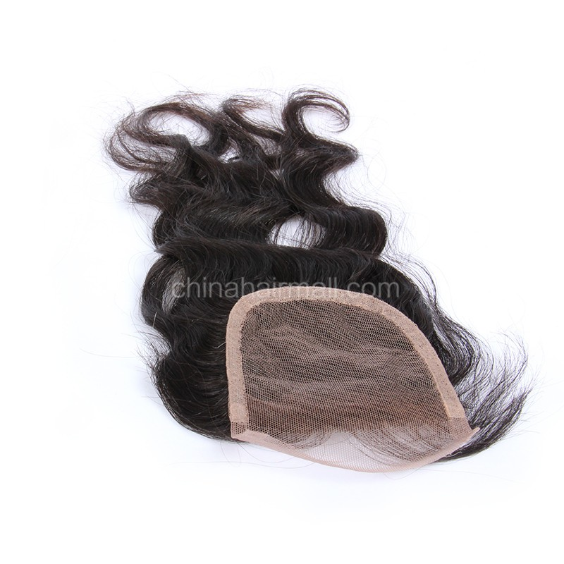 Peruvian Virgin Human Hair 4*4 Popular Lace Closure Natural Wave Natural Hair Line and Baby Hair [PVNWTC]