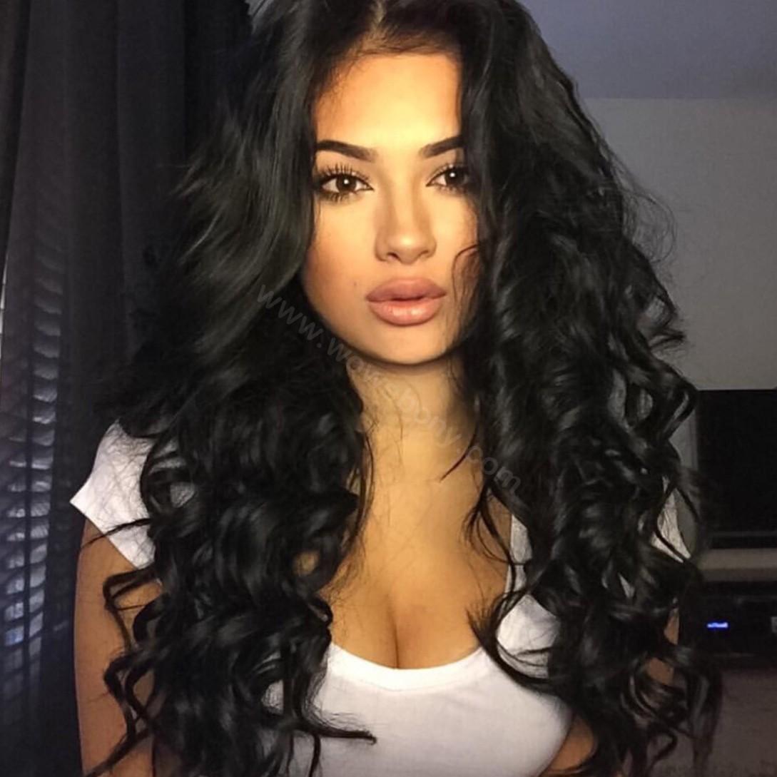 Lace Front Wigs Peruvian Virgin Human Hair Loose Wave